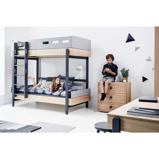 Popsicle - Bunk bed - Oak/Blueberry - Bunk bed