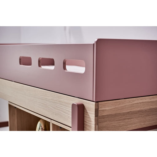 Popsicle - Bunk bed - Oak/Cherry with Underbed drawer - Bunk bed