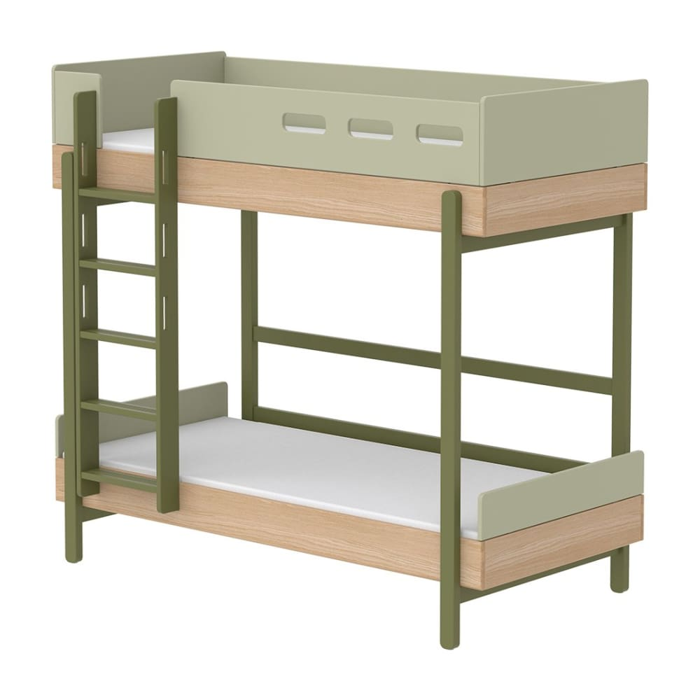 Popsicle - Bunk bed - Oak/Kiwi - Kids Furniture | Flexa USA