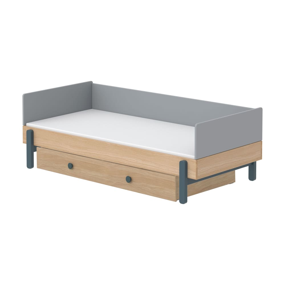 Popsicle - Daybed, single size with Underbed drawer - Oak/Blueberry - Kids Furniture | Flexa USA
