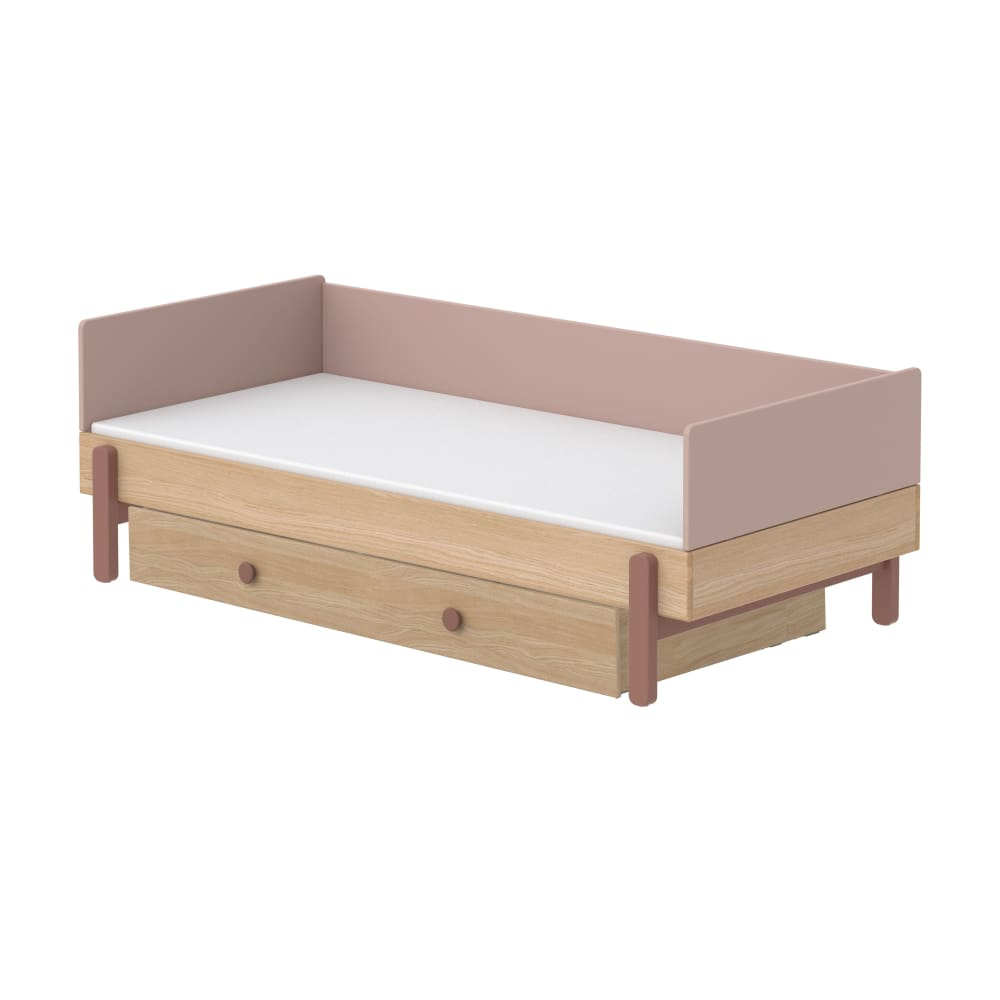 Popsicle - Daybed, single size with Underbed drawer - Oak/Cherry - Kids Furniture | Flexa USA