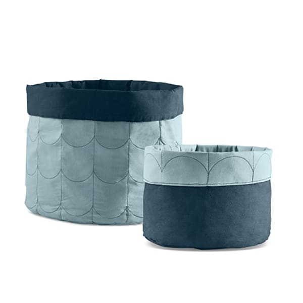 Soft storage, set of 2 - Frosty Blue - Kids Furniture | Flexa USA