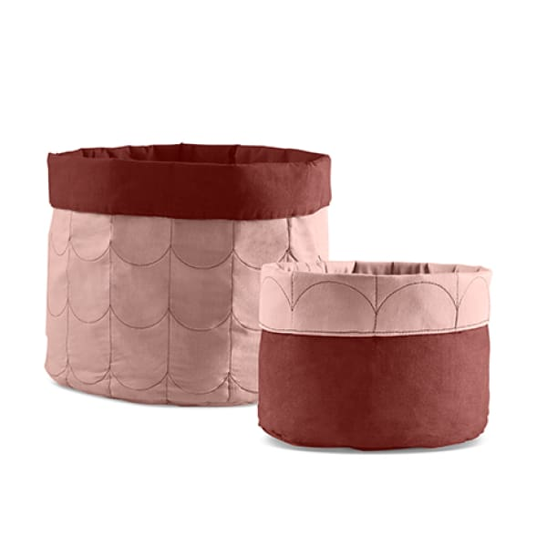 Soft storage, set of 2 -Misty Rose - Kids Furniture | Flexa USA