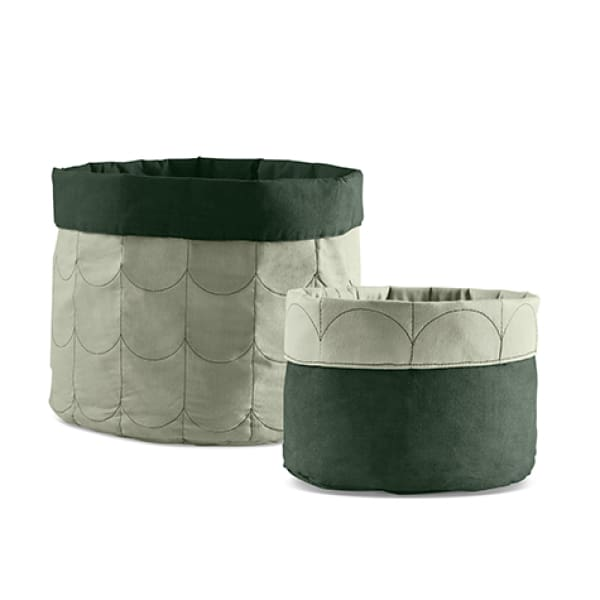 Soft storage, set of 2 - Moss Green - Kids Furniture | Flexa USA