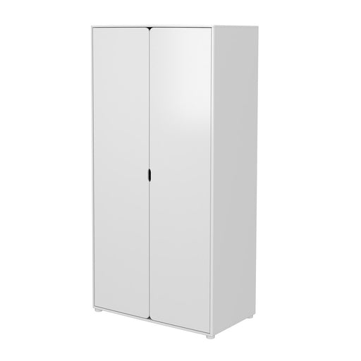 Cabby - Wardrobe with 2 doors, extra high (extra shelves) - White