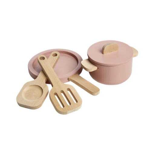 TOYS - Pot and pan - Light rose/Natural wood - Kids Furniture | Flexa USA