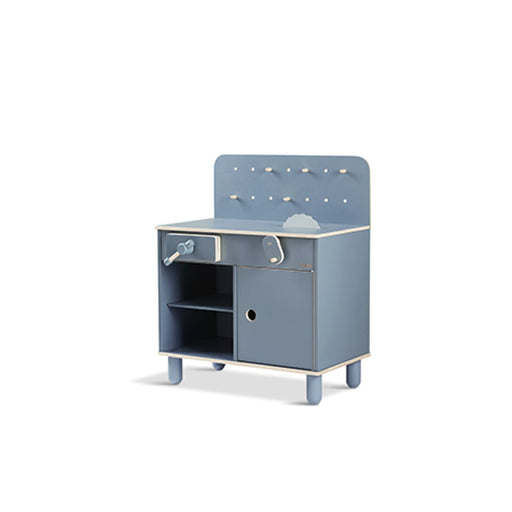 PLAY - The Workbench - Dark blue/Natural wood - Kids Furniture | Flexa USA