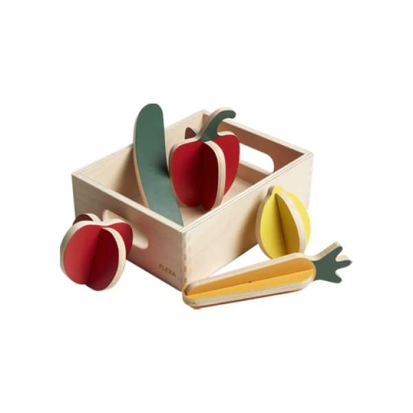 PLAY - Vegetables - Mixed colors/Natural wood - Kids Furniture | Flexa USA