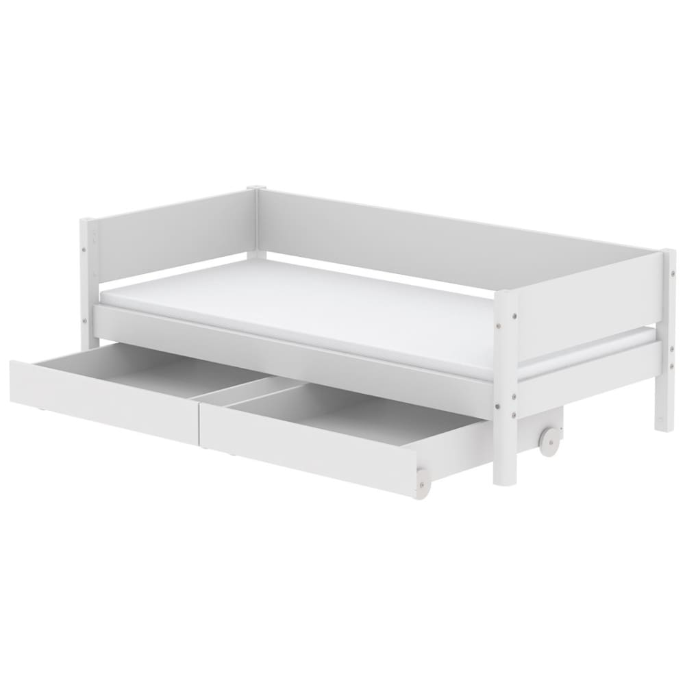 White - Daybed with Two Drawer - White - Kids Furniture | Flexa USA