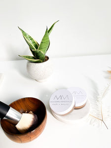 Bamboo Makeup Bowl for Mineral Powders