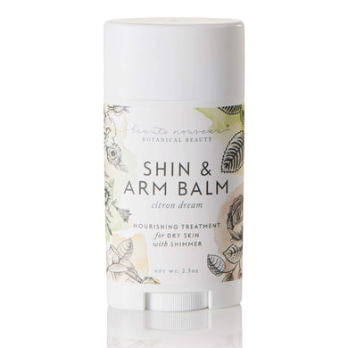 Beaute Nouveau Citron Dream Shin & Arm Balm Nourishing Treatment for Dry Skin with Shimmer, 2.5 oz.