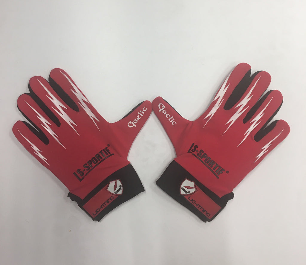 LS Sportif Red/White Lightning Gloves