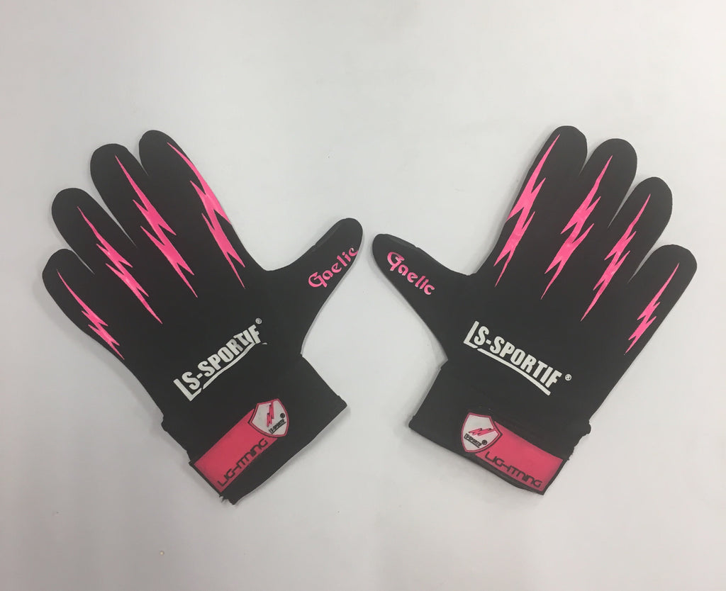 LS Sportif Black/Pink lightening gloves