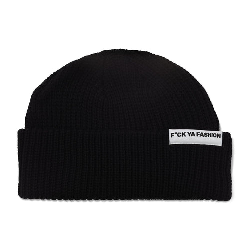 FuckYaFashion.com Hats F*CK YA FASHION (FW21) BLACK CUFF BEANIE