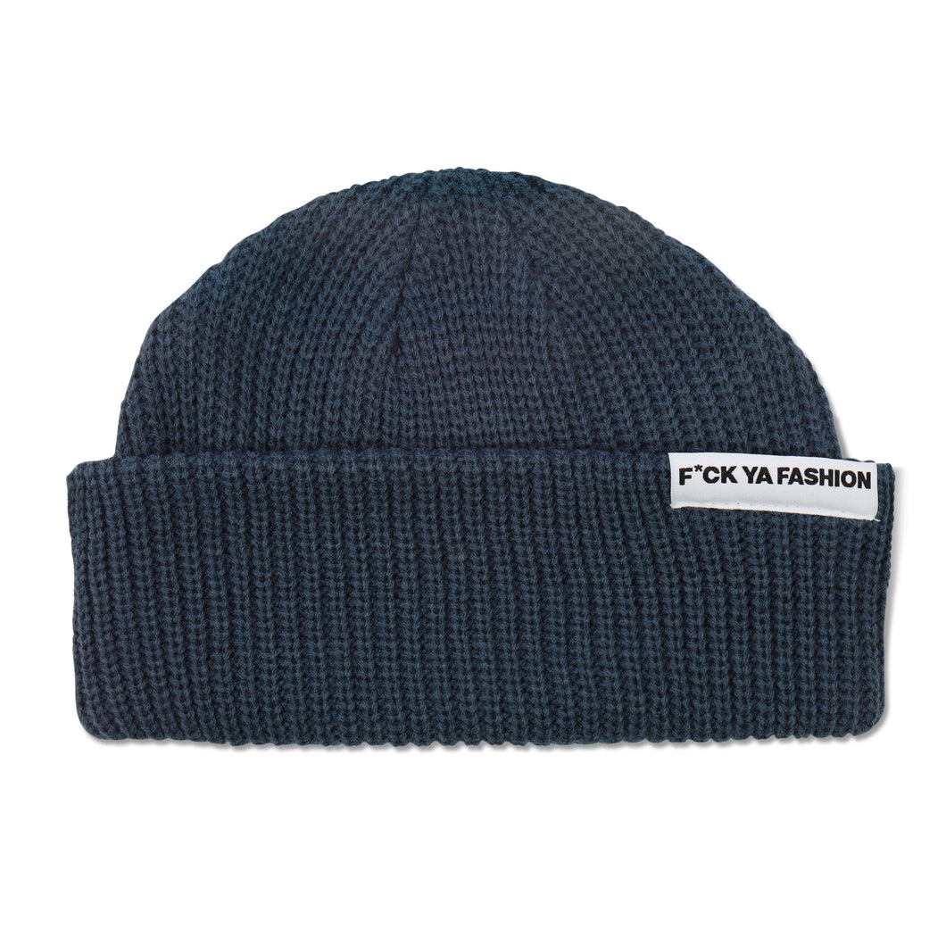 FuckYaFashion.com Hats O/S F*CK YA FASHION (FW21) BLUE CUFF BEANIE