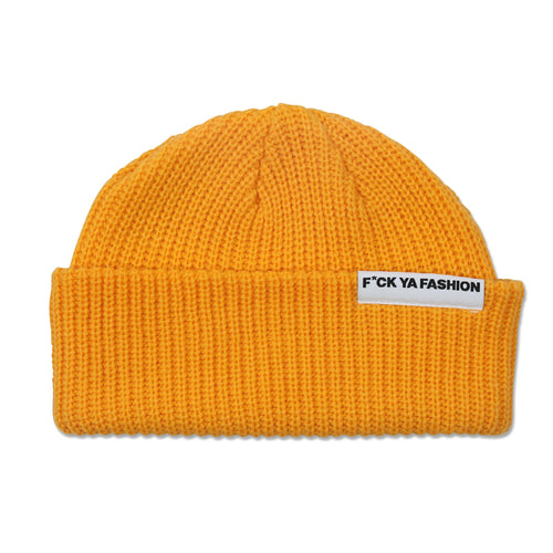 FuckYaFashion.com Hats O/S F*CK YA FASHION (FW21) YELLOW CUFF BEANIE