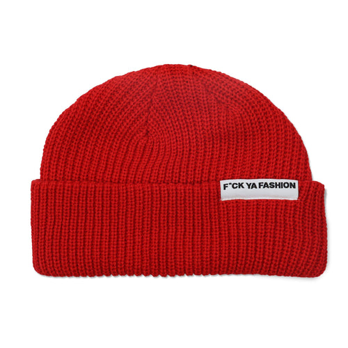FuckYaFashion.com Hats O/S (Sold Out) F*CK YA FASHION (FW21) RED CUFF BEANIE