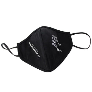 "FuckYaFashion.com Mask F*CK THIS MASK BLACK ""F*CK YA FASHION"" BANDANA 