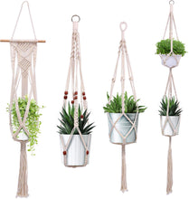 Load image into Gallery viewer, Macrame Plant Hanger - 4 Sizes Handmade Cotton Plant Hangers