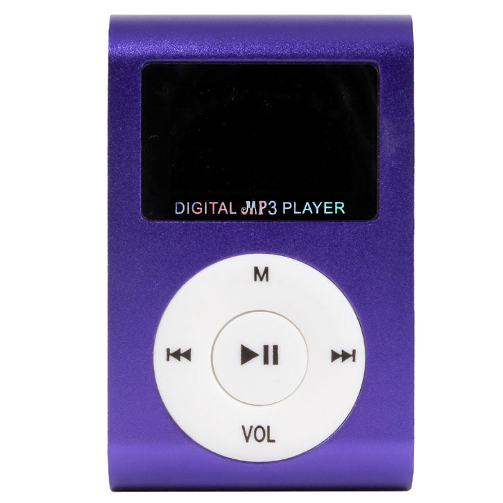 Mini Digital MP3 Player With Micro SD Slot in Purple