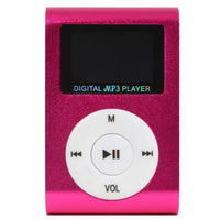 Mini Digital MP3 Player With Micro SD Slot in Pink