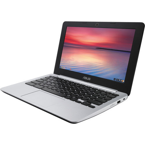 "ASUS C200MA-DS01 Celeron N2830 Dual-Core 2.16GHz 2GB 16GB SSD 11.6"" LED Chromebook Chrome OS w/Webcam"