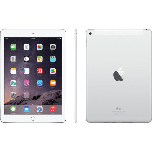 Apple iPad Air 2 with Wi-Fi + Cellular 64GB in White & Silver - MH2N2LL/A