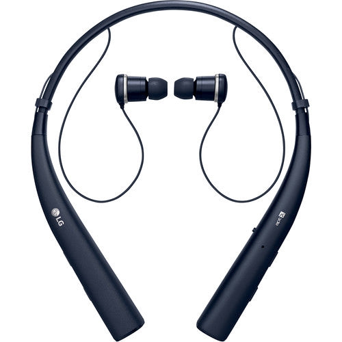 LG Tone Pro HBS-770 Wireless Stereo Headset w/Microphone & Retractable Earbuds in Blue