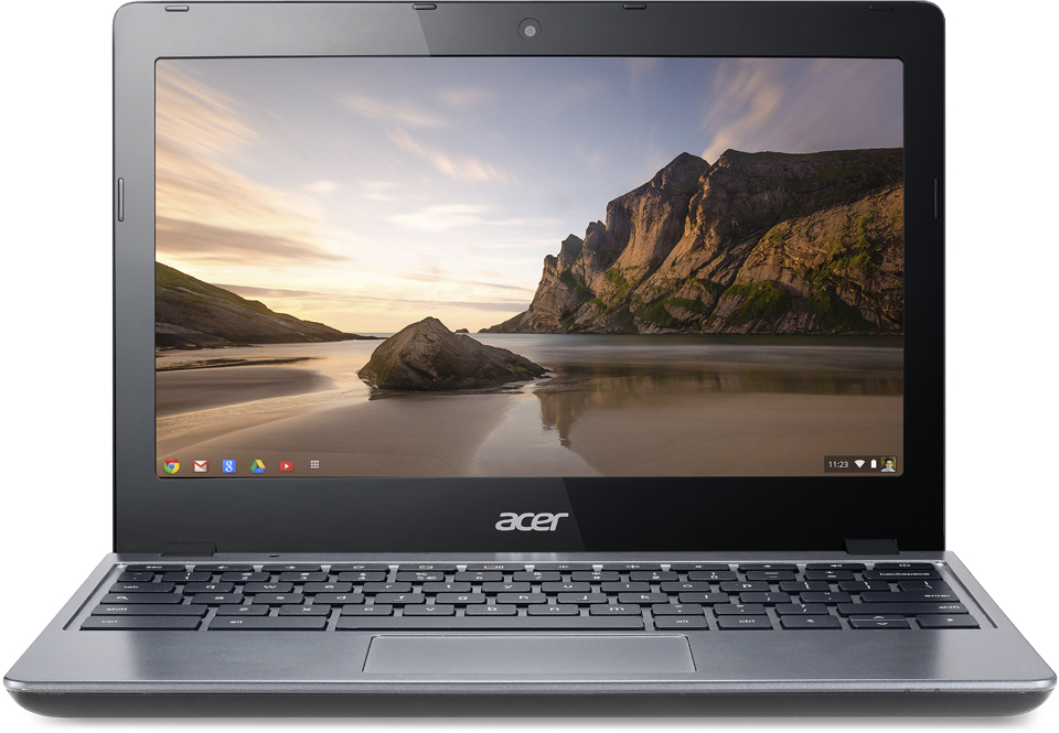 "Acer C720-2802 11.6"" Chromebook Intel Celeron 1.40 GHz 2GB 16GB SSD Chrome OS"