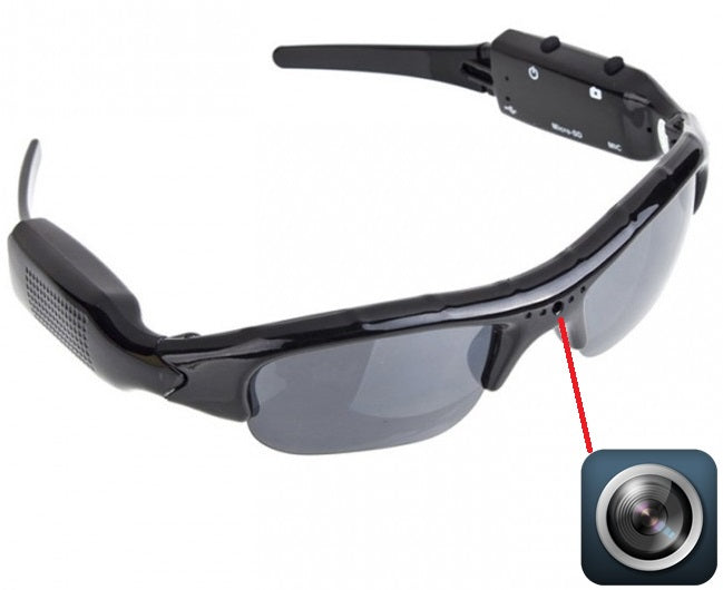 iTD Gear Spy Cam Sunglasses in Black