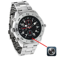 8GB Digital Camera Spy Watch with Built-In Microphone in Silver