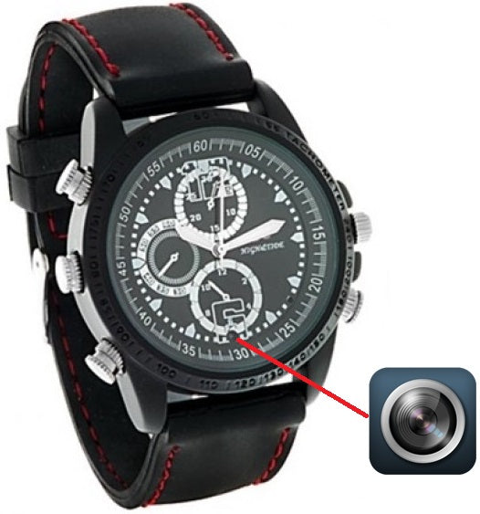 8GB Digital Camera Spy Watch with Built-In Microphone in Black
