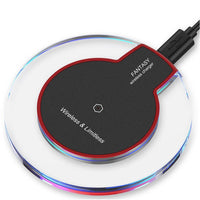 Crystal Qi Wireless Charging Pad in Black