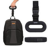 Portable Digital Hand Held Luggage Scale in Black