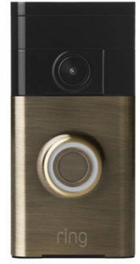 Ring WiFi-Enabled Video Doorbell in Antique Brass