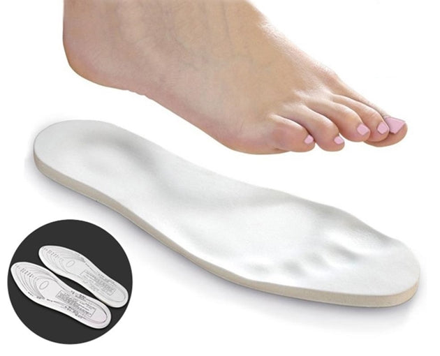 4 Pairs: Unisex Memory Foam Insoles with Arch Support and Cut-To-Fit Size Template