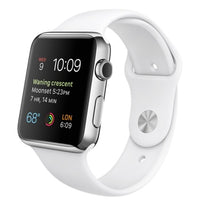 Apple Watch Sport 42mm Smartwatch in Stainless Steel Case with White Band