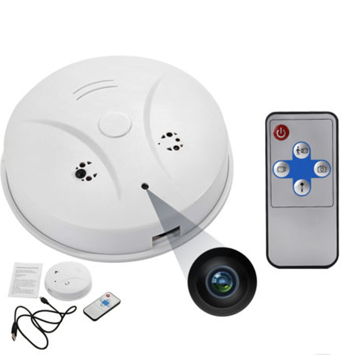 Smoke Detector Surveillance Security Camera with High Definition DVR Recorder and Remote Control