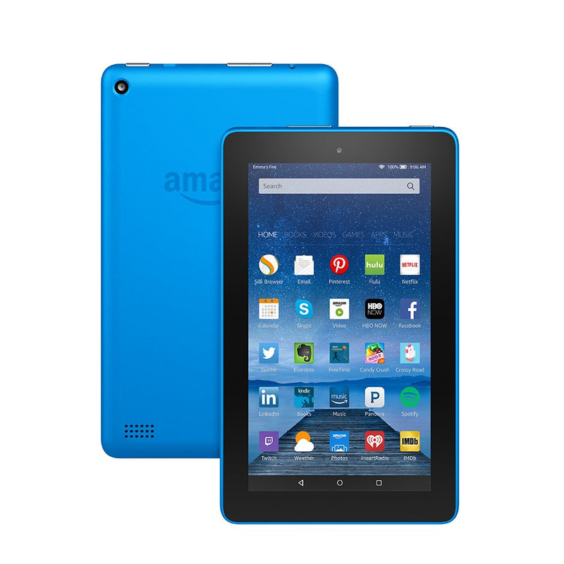 "Amazon Fire Tablet with Alexa HD 7"" Display 8 GB or 16GB 6th Gen in Assorted colors"