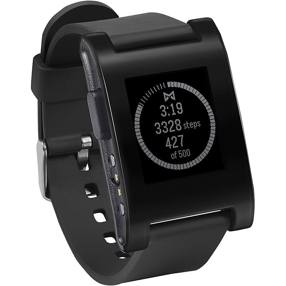 Pebble Classic Smart Watch for iPhone and Android Devices in Black