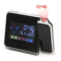 Digital Projection Alarm Clock - Weather Forecast & Backlit LCD Screen