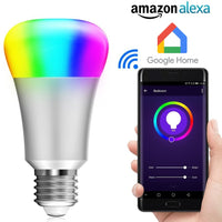 Multicolored Smart LED Bulb Compatible with Alexa & Google