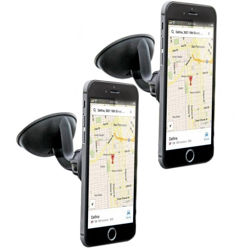 2 Pack: iTD Gear Magnetic Windshield Car Mount Holder for iPhone & Android