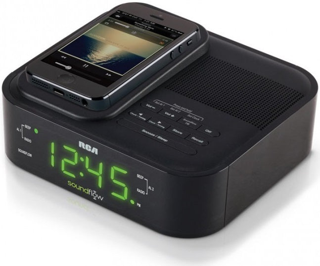 Acoustic Research Clock Radio with Soundflow Wireless Audio Speaker and USB Charging