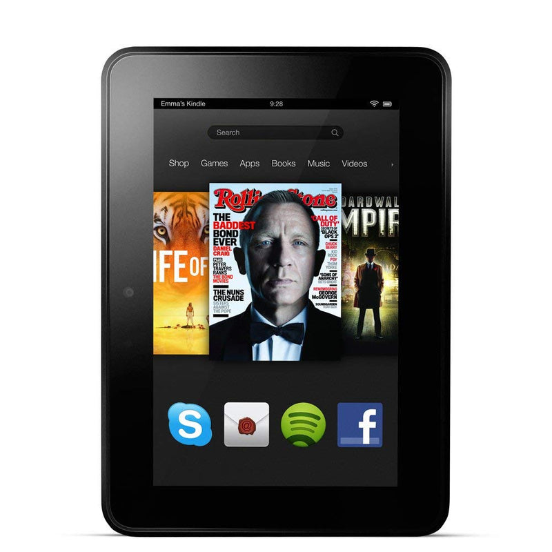 "Amazon Fire Tablet with Alexa HD 7"" Display, Dolby Audio, Dual-Band Wi-Fi, 16GB or 32GB in Black"