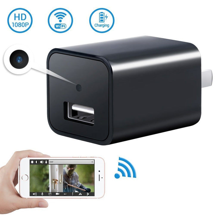 Spy Camera USB Wall Charger 1080P & WiFi Viewing