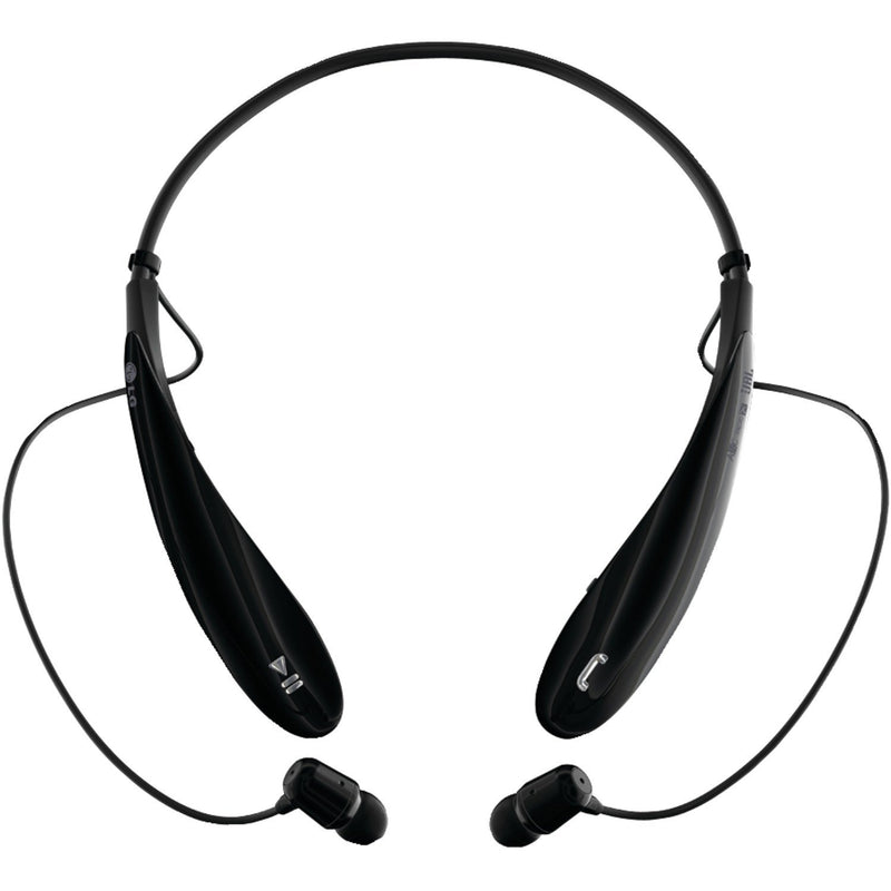 LG Tone HBS-800 Rechargeable Bluetooth Stereo Headset w/Microphone & Retractable Earbuds in Black