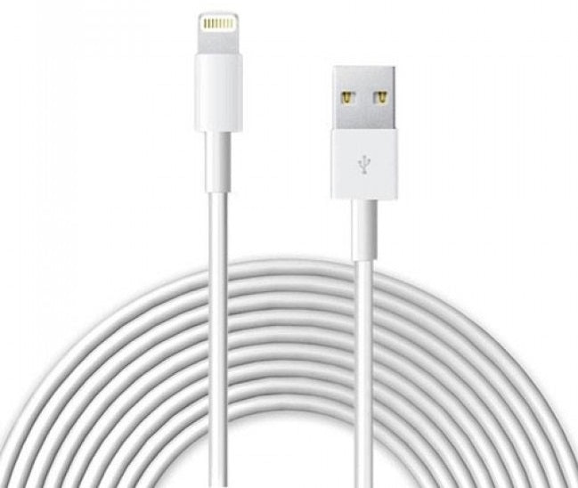 8 Pin to USB Charge & Data Sync Cables for iPhone 5/6/7/8/X & iPads in White