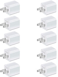 Deals on 10-Pack Universal AC USB Wall Charger Cube for iPhone