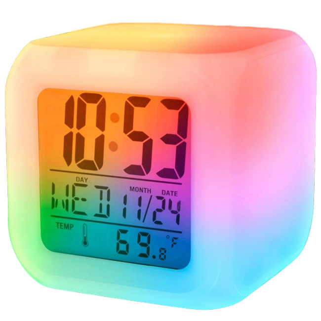 iTD Gear 7 Color LED Digital Alarm Clock w/Temperature